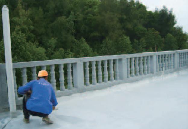 屋面高分子复合防水涂料涂刷