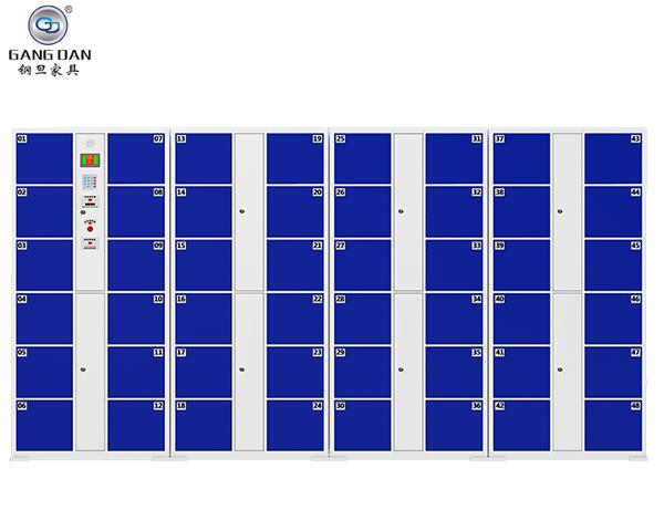 红外条码智能存包柜蓝色48门