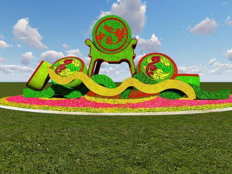 党建绿色雕塑
