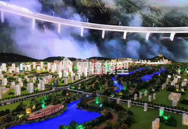 云南城市规划沙盘模型