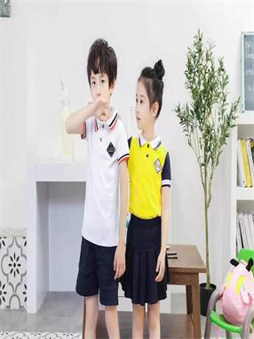 小学生夏季学院风校服J006