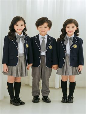儿童帅气英伦风校服套装X8820