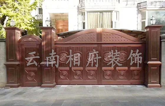 曲靖庭院铜门安装