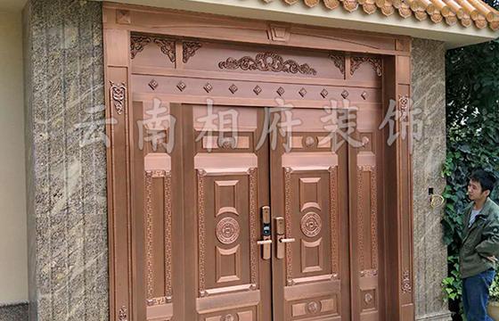 新式别墅铜门厂家安装效果