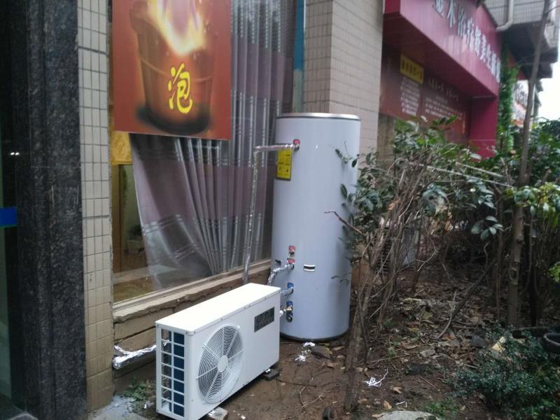 足疗店空气能热水器安装