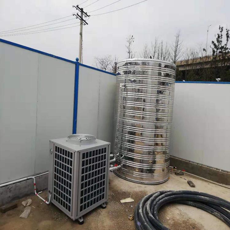 宝能科技工地空气能热水器安装案例