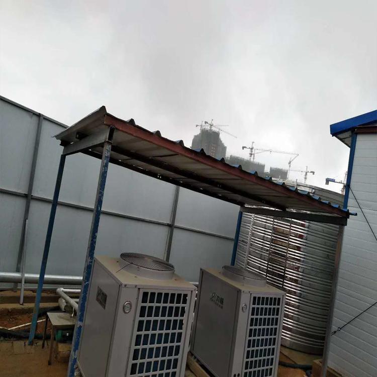 中建三局工地空气能热水器安装