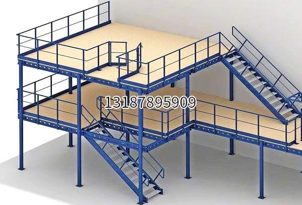 二层阁楼式货架