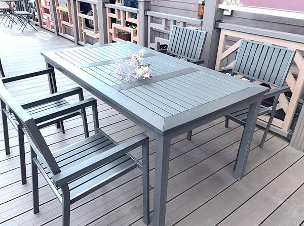 楚雄公园景区塑木休闲桌椅