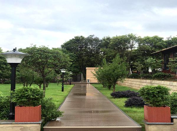 云南公园塑木花箱
