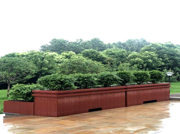 景区大型塑木花箱