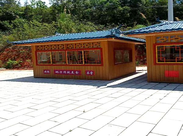 景区塑木售卖亭