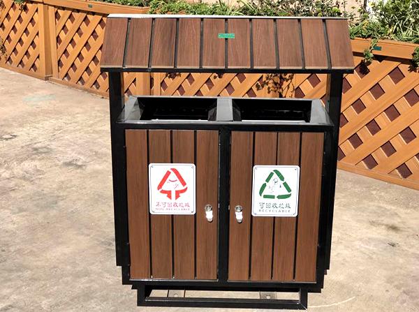 市政塑木垃圾桶