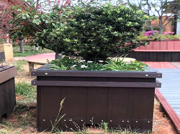 景观塑木花箱