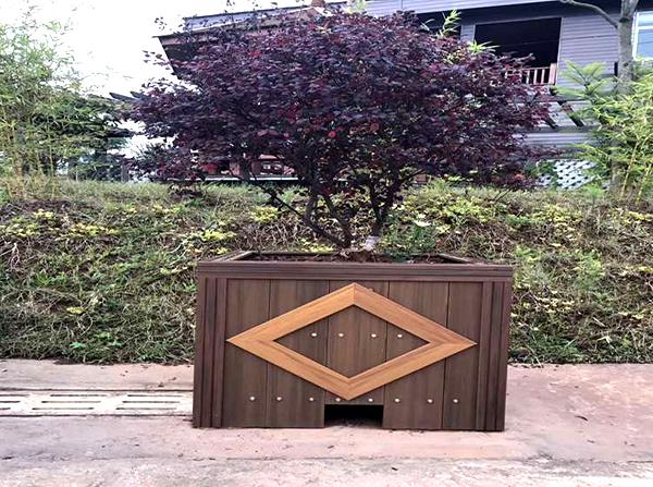 公园塑木花箱