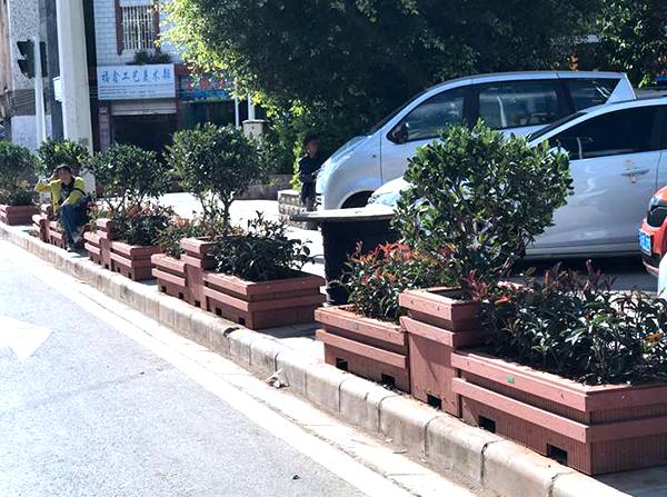 市政塑木花箱