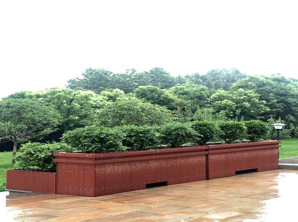 园林塑木花箱