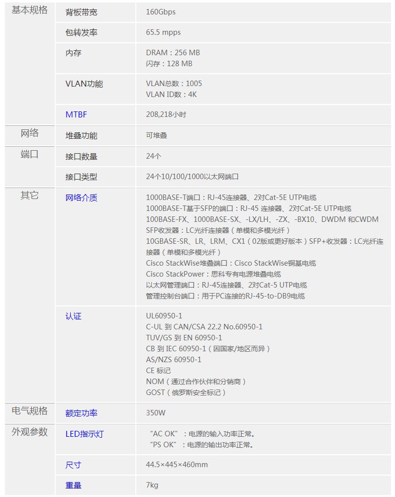 北京思科CiscoWS-C3560X-24T-L交换机
