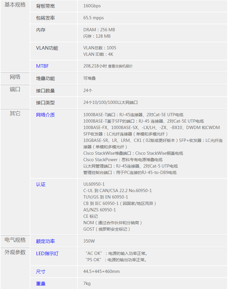 北京思科CiscoWS-C3560X-24T-S交换机