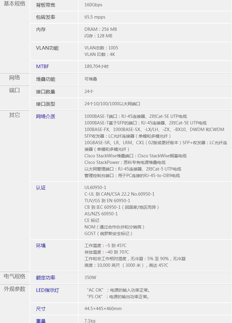 北京思科WS-C3750X-24T-L交换机