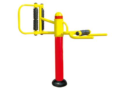 室外健身器材-立式腰背按摩器