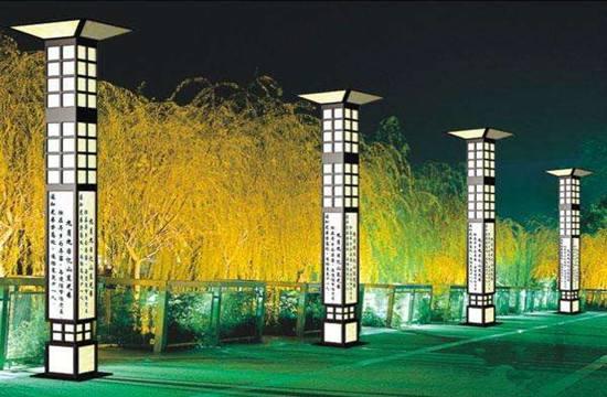榆林广场景观灯