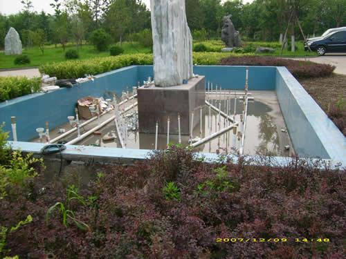 西安喷泉假山施工