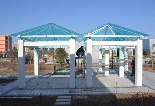 陕西学校凉亭建设