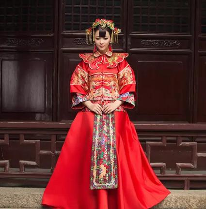 咸陽中式婚禮秀禾服