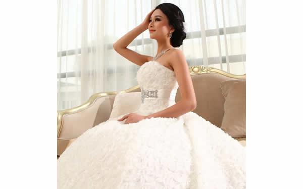 新娘抹胸型婚紗