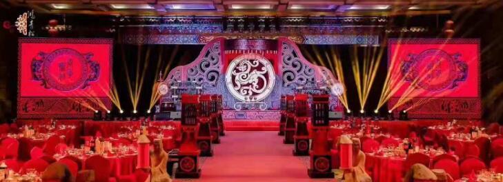 清渭公館白先生與劉女士中式婚場布置