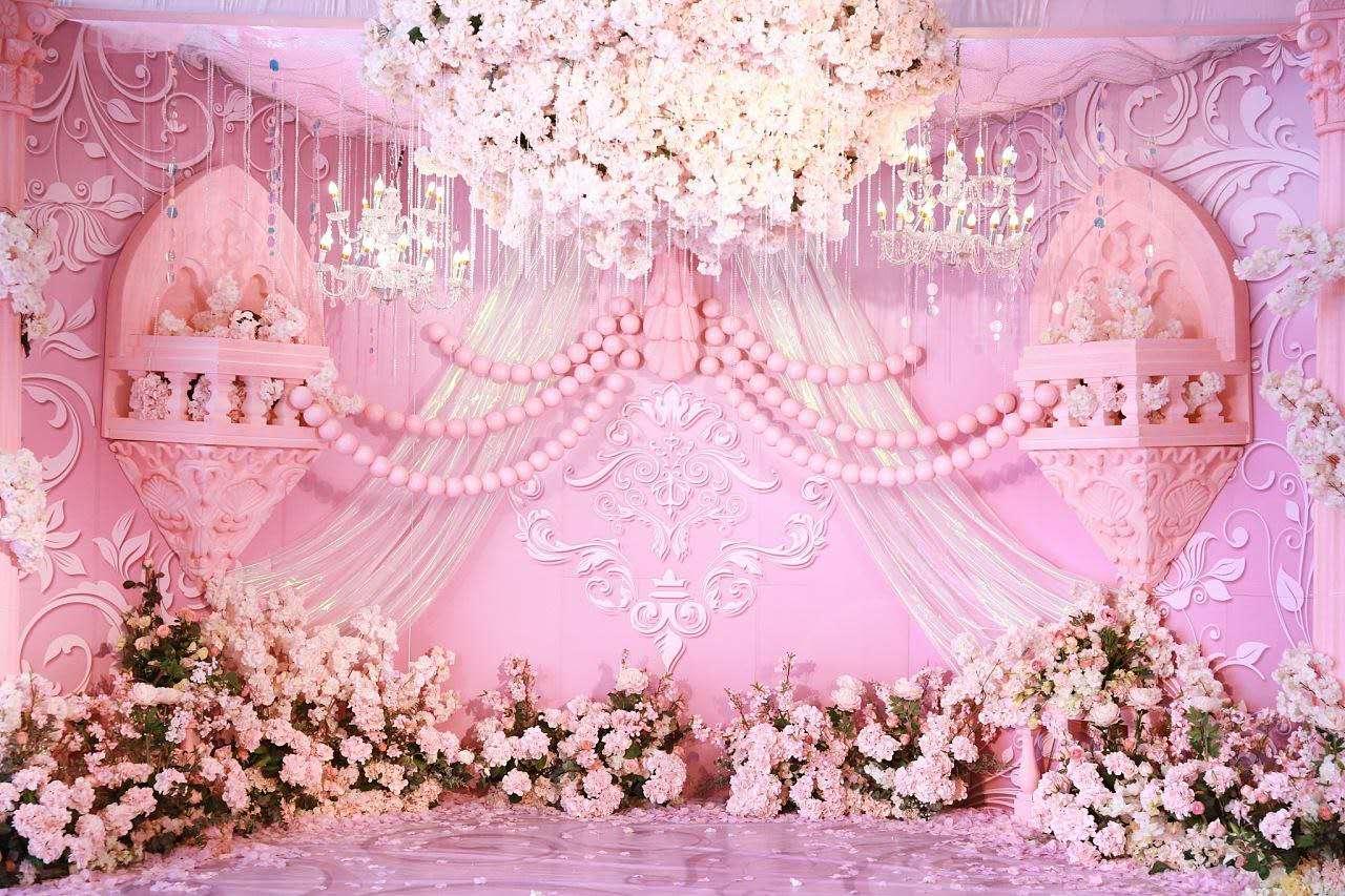 咸陽禮泉縣新人粉色主題婚禮
