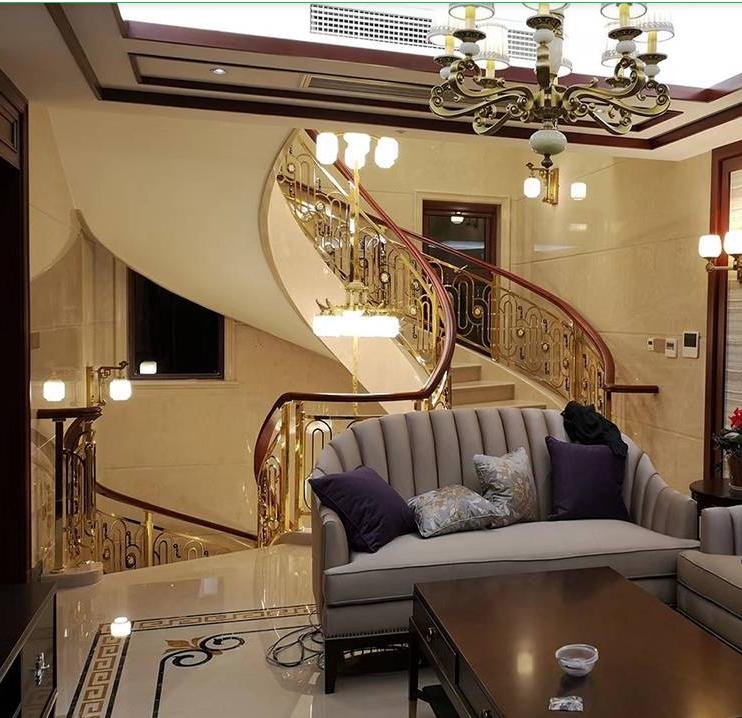 高档铜楼梯扶手