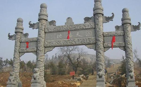 信阳汉白玉石雕牌坊