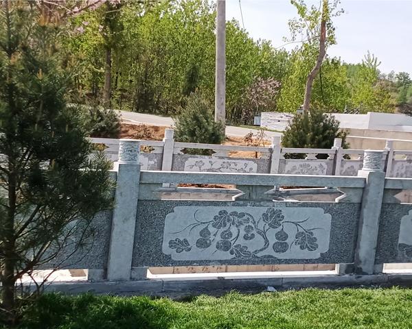 江西洛阳花岗岩护栏安装完工!