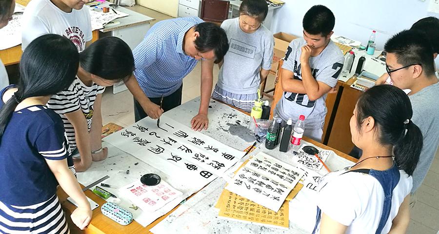 南阳书法培训班中心多久才能学好书法?