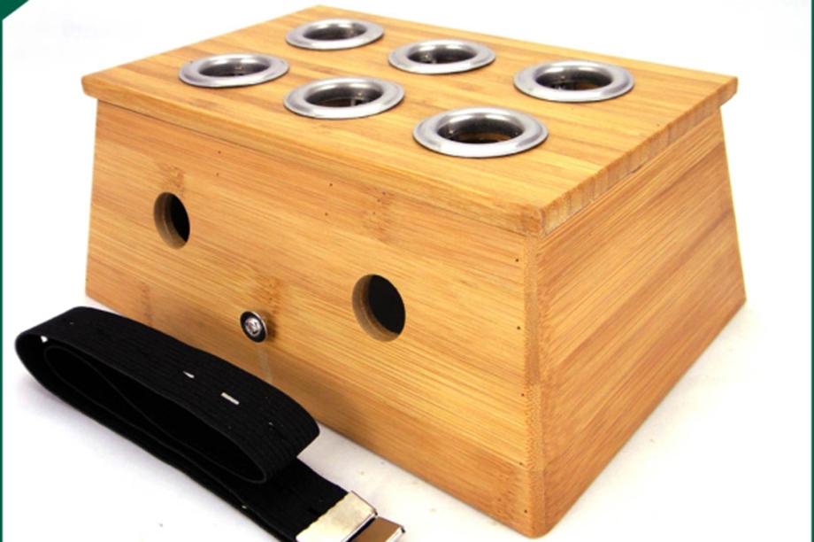 实木六孔炙盒