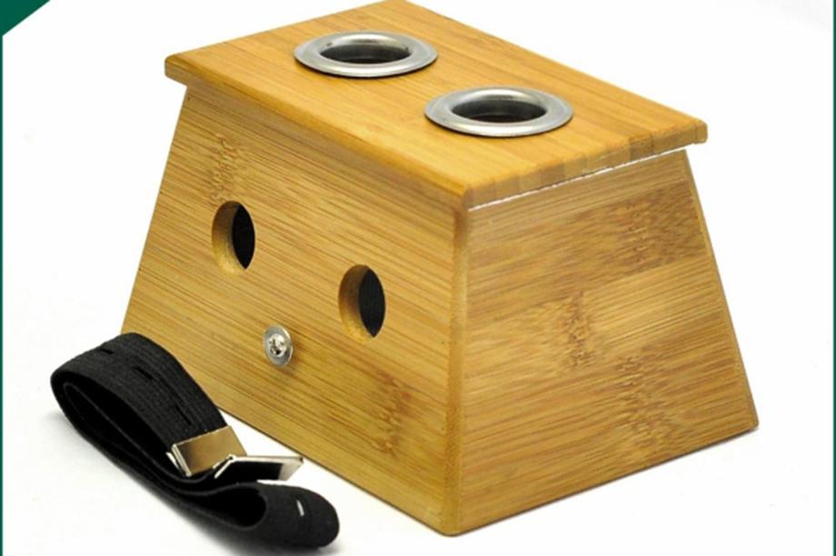 实木双孔灸盒