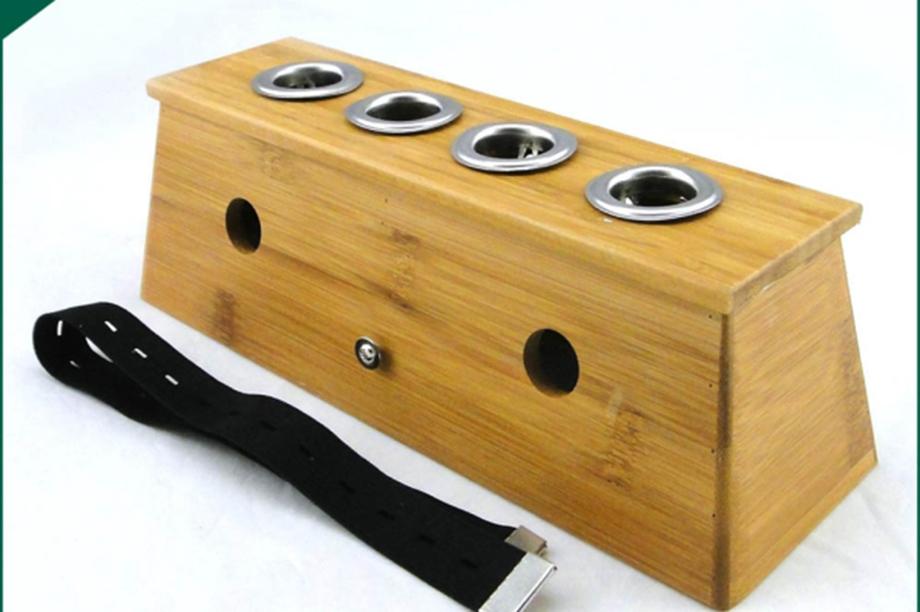 实木四孔炙盒长