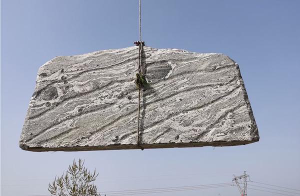 3米泰山石卧石装车完毕
