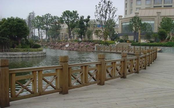 公园防腐木栏杆