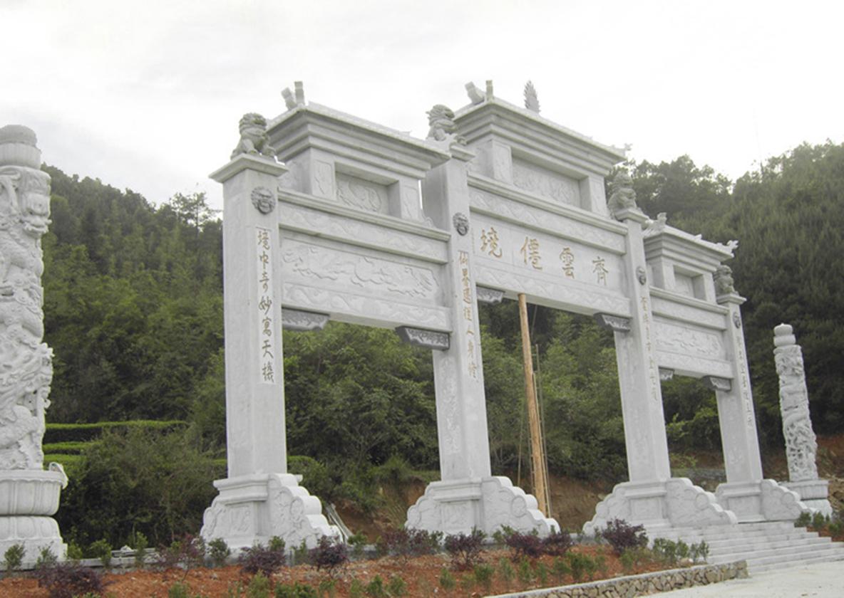 河南汉白玉石雕牌坊