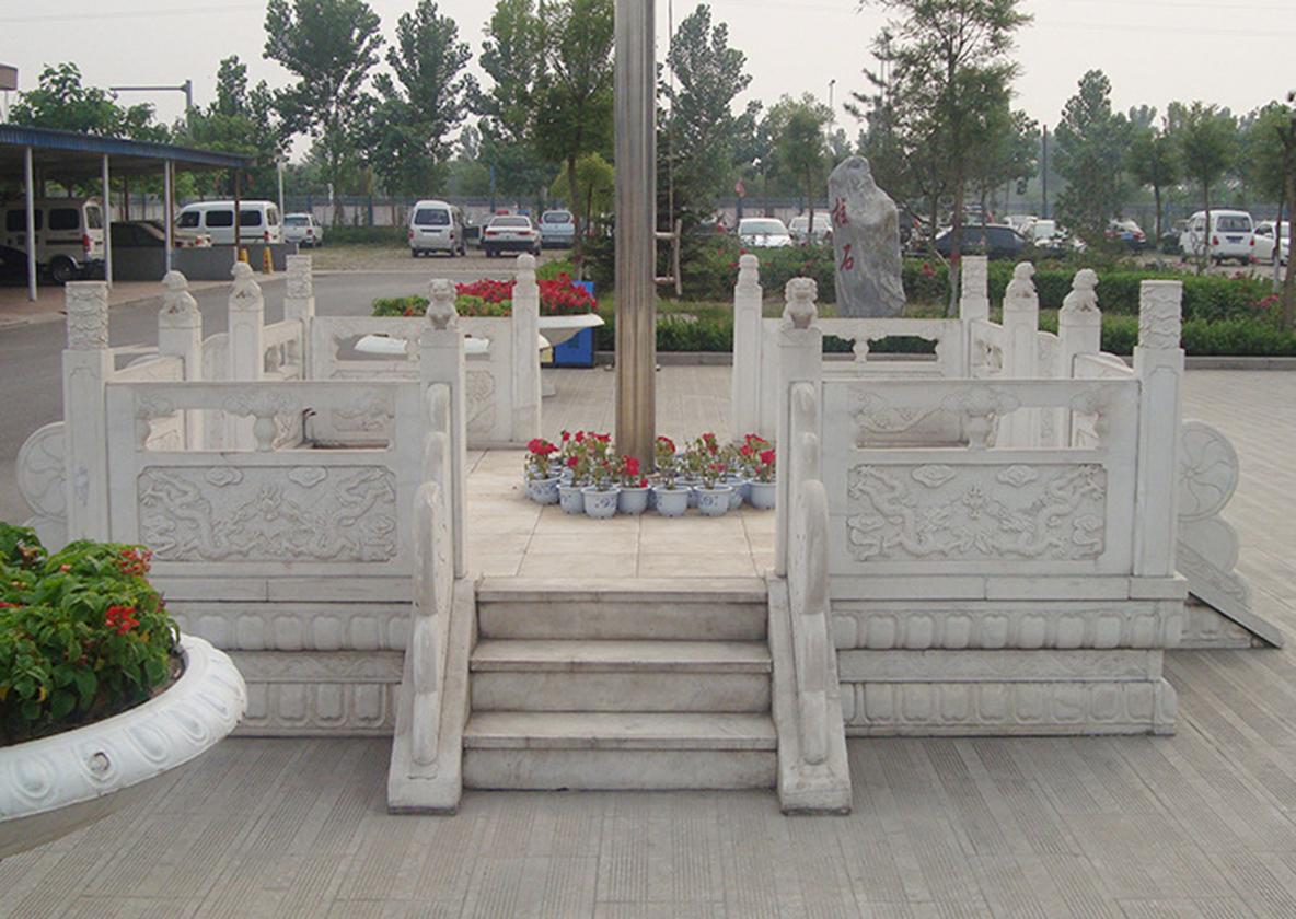 旗台汉白玉护栏雕刻