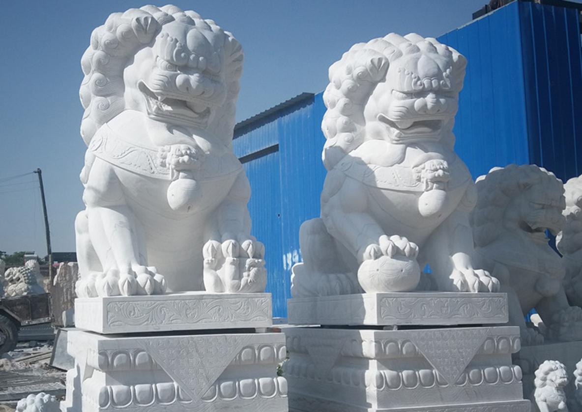 河南汉白玉石狮子