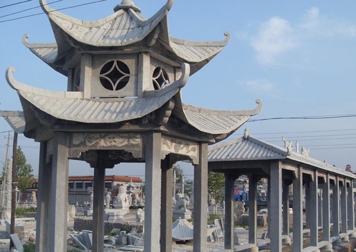 河南双层石雕凉亭