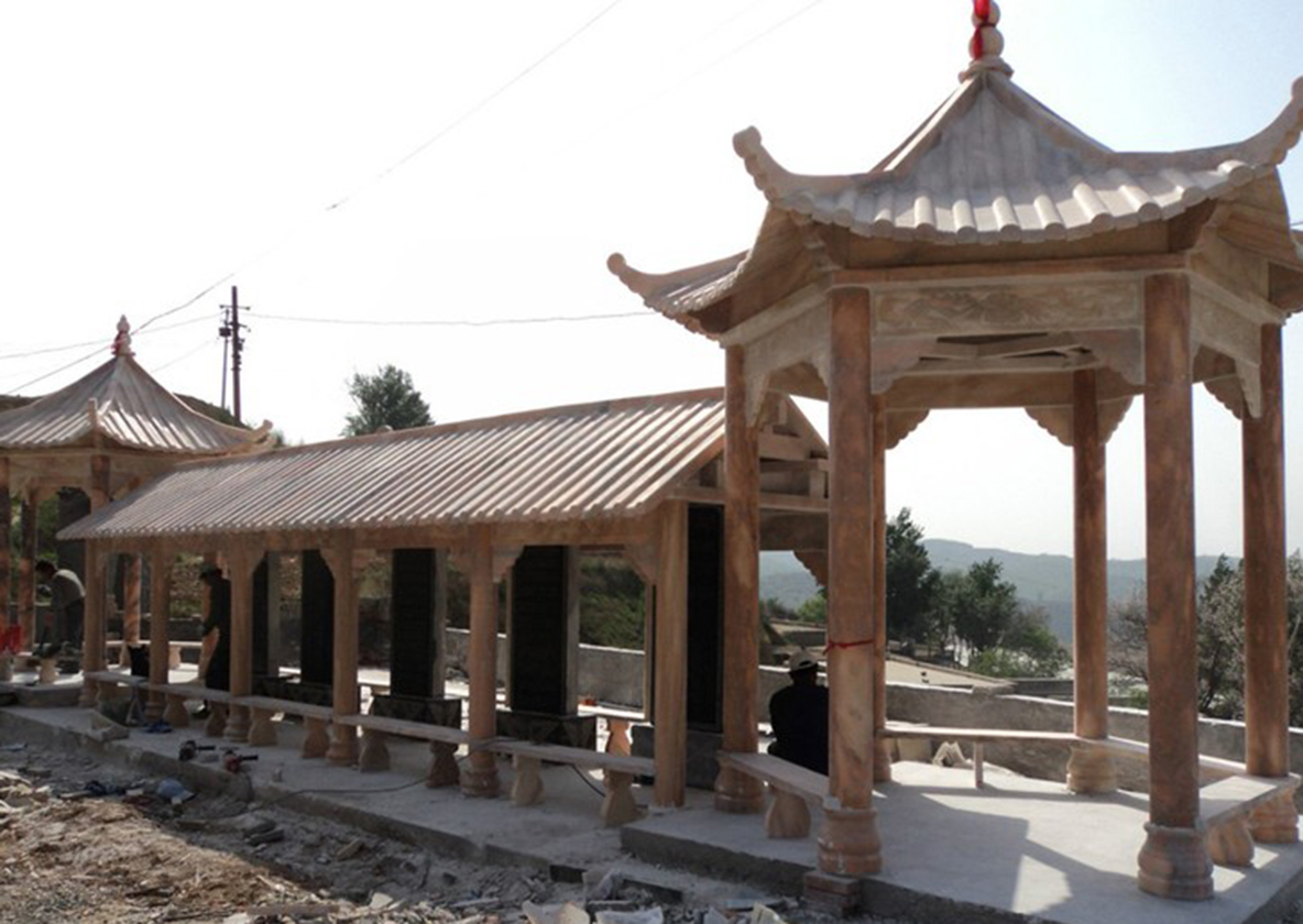 青石石雕凉亭建造