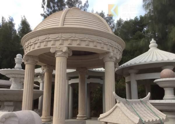 花岗岩欧式石雕凉亭