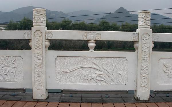 淅川寺庙青石栏杆