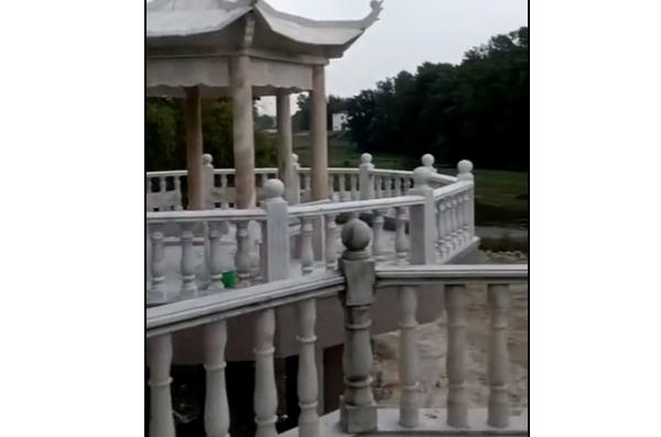 陕西大型石雕凉亭定制施工完成