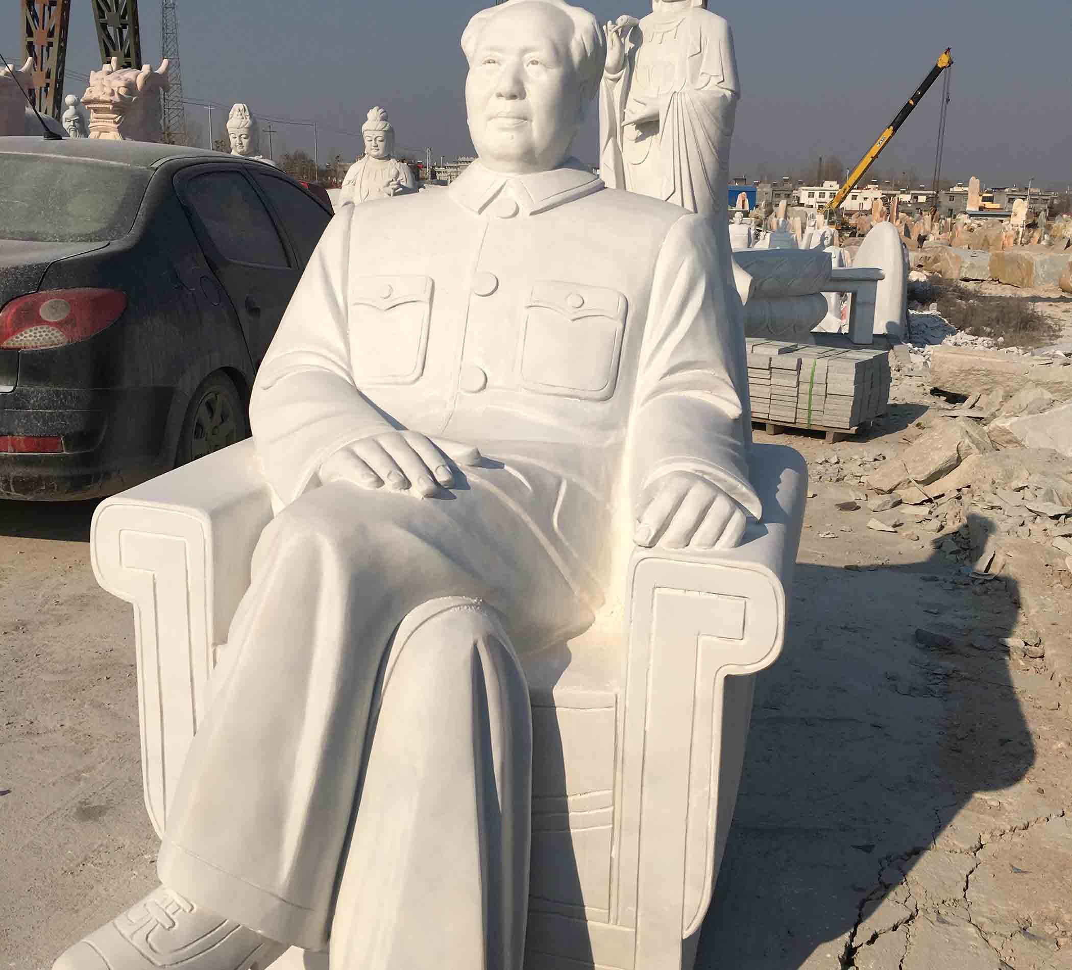 石雕毛澤東坐像雕刻